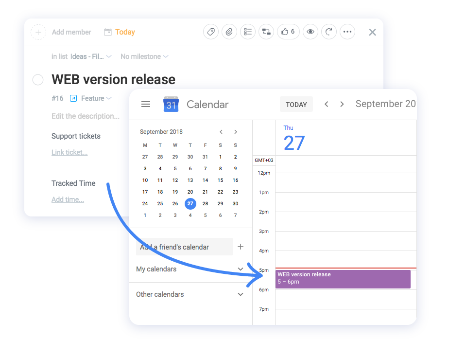 Google calendar Ora integration